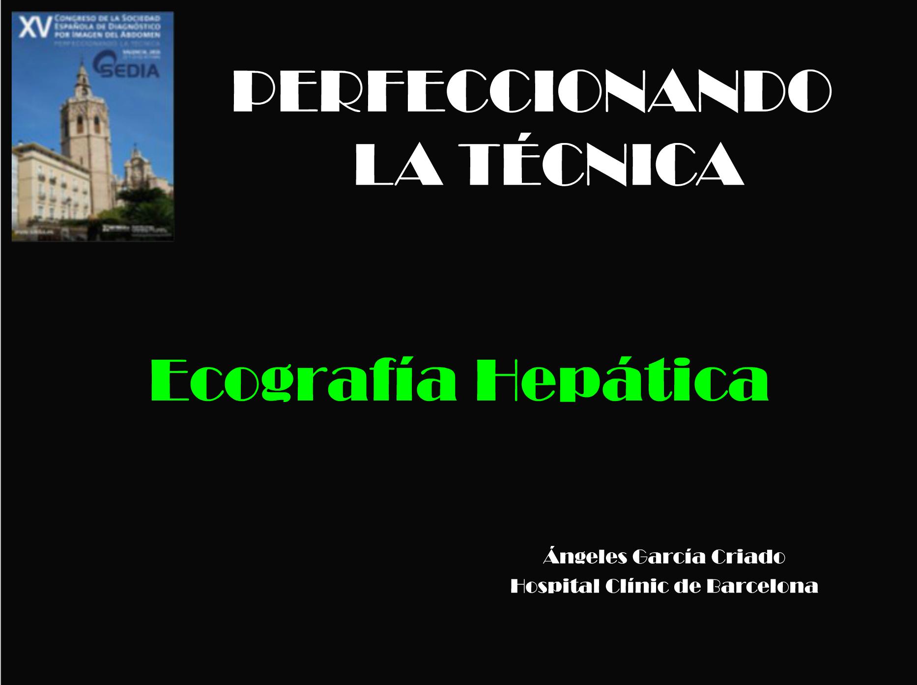 Ecografía hepática // Dra. García Criado
